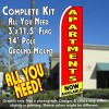 APARTMENTS NOW AVAILABLE (Red/Yellow) Flutter Feather Banner Flag Kit (Flag, Pole, & Ground Mt)