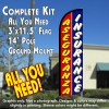 Aseguranza & Insurance Windless Feather Banner Flag Kit (Flag, Pole, & Ground Mt)