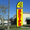 ASK ABOUT OUR DAILY SPECIALS (Yellow) Flutter Feather Banner Flag (11.5 x 3 Feet)