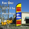 AUTHORIZED IRS E-FILE PROVIDER HERE Windless Feather Banner Flag (2.5 x 11.5 Feet)