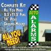 AUTO ALARMS (Green/Checkered) Flutter Feather Banner Flag Kit (Flag, Pole, & Ground Mt)