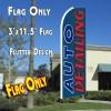 AUTO DETAILING (Green) Flutter Feather Banner Flag (11.5 x 3 Feet)