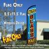 AUTO GLASS SPECIALISTS Windless Feather Banner Flag (2.5 x 11.5 Feet)