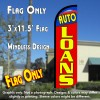 Auto Loans Windless Polyknit Feather Flag (3 x 11.5 feet)