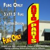 AUTO PARTS (Yellow/Red) Flutter Feather Banner Flag (11.5 x 3 Feet)