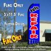 AUTO REPAIR (Blue) Flutter Feather Banner Flag (11.5 x 3 Feet)