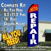 AUTO REPAIR (Red/Blue) Flutter Feather Banner Flag Kit (Flag, Pole, & Ground Mt)