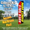 Auto Sale Auction (Red/Black/White/Yellow) Flutter Feather Flag Kit (Flag, Pole, & Ground Mt)
