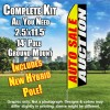 Auto Sale Auction (Yellow/Red/Black/White) Flutter Feather Flag Kit (Flag, Pole, & Ground Mt)