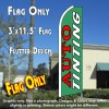 Auto Tinting (Teal) Flutter Feather Banner Flag (11.5 x 3 Feet)