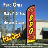 BBQ (Red) Windless Feather Banner Flag (2.5 x 11.5 Feet)