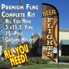 BEER FLIGHTS Premium Windless Feather Banner Flag Kit (Flag, Pole, & Ground Mt)