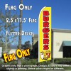 BURGERS (Yellow) Flutter Feather Banner Flag (11.5 x 2.5 Feet)