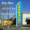 CAR WASH (Blue/Car) Flutter Feather Banner Flag (11.5 x 2.5 Feet)