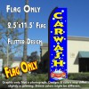 CAR WASH (Blue/Yellow) Flutter Polyknit Feather Banner Flag (11.5 x 2.5 Feet)