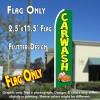 CAR WASH (Green/Car) Flutter Feather Banner Flag (11.5 x 2.5 Feet)