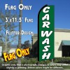 CAR WASH (Green/White) Flutter Feather Banner Flag (11.5 x 3 Feet)