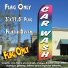 CAR WASH (Multi-colored) Flutter Feather Banner Flag (11.5 x 3 Feet)