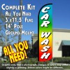 Car Wash (Multicolor) Windless Feather Banner Flag Kit (Flag, Pole, & Ground Mt)