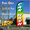 Car Wash (Multicolor) Windless Polyknit Feather Flag (3 x 11.5 feet)