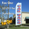 CAR WASH (Old Glory) Flutter Feather Banner Flag (11.5 x 2.5 Feet)