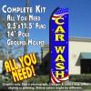 CAR WASH (Patriotic) Flutter Feather Banner Flag Kit (Flag, Pole, & Ground Mt)
