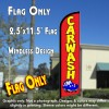 CAR WASH (Red) Windless Feather Banner Flag (2.5 x 11.5 Feet)