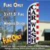 Car Wash (Stars & Stripes) Windless Polyknit Feather Flag (3 x 11.5 feet)