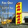 CAR WASH (Yellow) Flutter Feather Banner Flag (11.5 x 3 Feet)