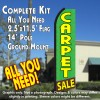 CARPET SALE (Green/Yellow) Flutter Feather Banner Flag Kit (Flag, Pole, & Ground Mt)