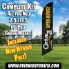 Century 21 Open House black - yellow - white windless  Feather Banner Flag Kit (Flag, Pole, & Ground Mt)