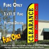 CLEARANCE SALE (Yellow/Red) Flutter Feather Banner Flag (11.5 x 3 Feet)