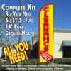 Clearance Sale (Yellow/Red) Windless Feather Banner Flag Kit (Flag, Pole, & Ground Mt)