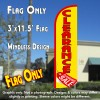 Clearance Sale (Yellow/Red) Windless Polyknit Feather Flag (3 x 11.5 feet)