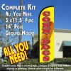 Corn Dogs Windless Feather Banner Flag Kit (Flag, Pole, & Ground Mt)