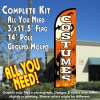 Costumes Windless Feather Banner Flag Kit (Flag, Pole, & Ground Mt)