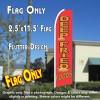 DEEP FRIED FOODS Flutter Feather Banner Flag (11.5 x 2.5 Feet)