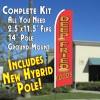 DEEP FRIED FOODS  Feather Banner Flag Kit (Flag, Pole, & Ground Mt)