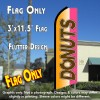 DONUTS (Orange/Pink) Flutter Feather Banner Flag (11.5 x 3 Feet)