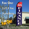 EASY FINANCE (Red/Blue) Flutter Feather Banner Flag (11.5 x 3 Feet)