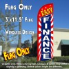Easy Finance (Starburst) Windless Polyknit Feather Flag (3 x 11.5 feet)