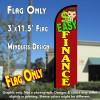 Easy Finance Windless Polyknit Feather Flag (3 x 11.5 feet)