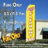 ELEPHANT EARS (Yellow) Flutter Feather Banner Flag (11.5 x 2.5 Feet)