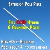 Extension Pole piece for feather flags