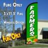 Farmers Market (Green) Windless Polyknit Feather Flag (3 x 11.5 feet)