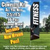 Fitness (Gray/Woman Holding Weight) Flutter Feather Flag Kit (Flag, Pole, & Ground Mt)