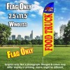 Food Truck Yellow red windless Feather Banner Flag