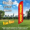 Food Truck (Red/Yellow) Windless Polyknit Feather Flag Only (3 x 11.5 feet)