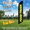 Food Truck (Black/Yellow) Windless Polyknit Feather Flag Only (3 x 11.5 feet)