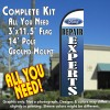 Ford Repair Experts Windless Feather Banner Flag Kit (Flag, Pole, & Ground Mt)